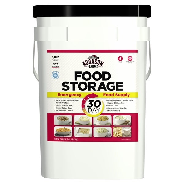 Augason Farms 30-Day Emergency Food Storage Supply 8.5 Gallon Pail - White