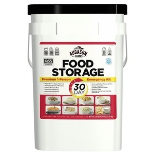 Augason Farms 30-Day Emergency Food Storage Supply 8.5 Gallon Pail - White