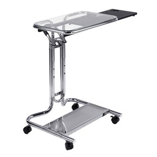 Calico Designs Clear Glass Laptop Cart with Mouse Pad (2 options available)