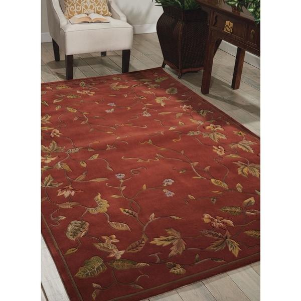 Nourison Hand tufted Julian Floral Spice Rug - 7'6 x 9'6