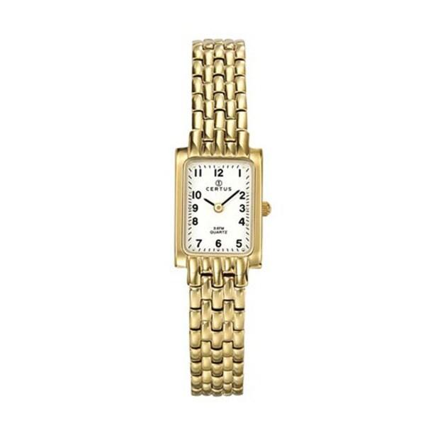 Certus Paris Women's gold-tone Brass Rectangular Watch