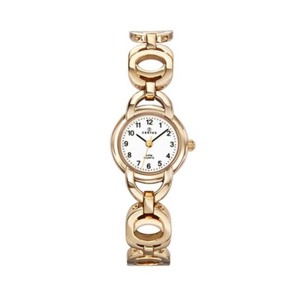 Certus Paris women's gold tone brass white dial watch