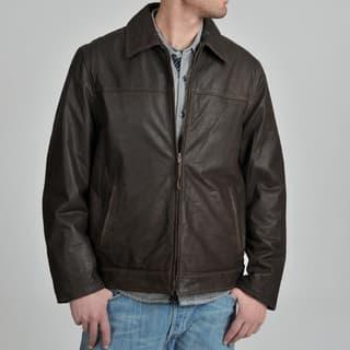 R & O Men's Rugged Leather Jacket|https://ak1.ostkcdn.com/images/products/7286171/7286171/R-O-Mens-Rugged-Leather-Jacket-P14760908.jpg?impolicy=medium