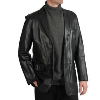 Excelled Men's Lamb Leather 3-Button Blazer|https://ak1.ostkcdn.com/images/products/7286172/Excelled-Mens-Lamb-Leather-3-Button-Blazer-P14760909.jpg?impolicy=medium