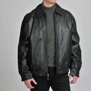 Excelled Men's Leather Bomber Jacket