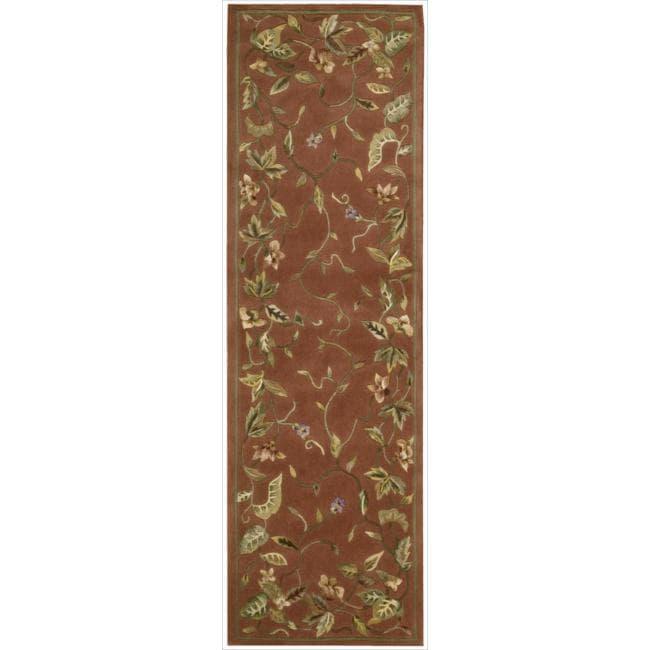 Nourison Hand-tufted Julian Floral Spice Rug (2'3 x 8')
