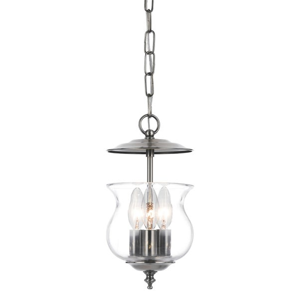 Crystorama Ascott Collection 3-light Pewter Pendant