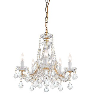 Crystorama Maria Theresa Collection 5-light Gold Chandelier