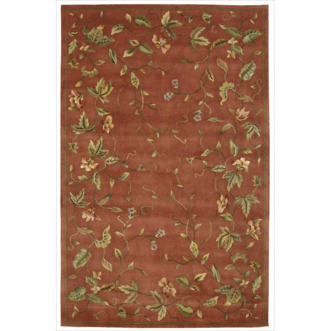 Nourison Hand-tufted Julian Floral Spice Rug (3'6 x 5'6)
