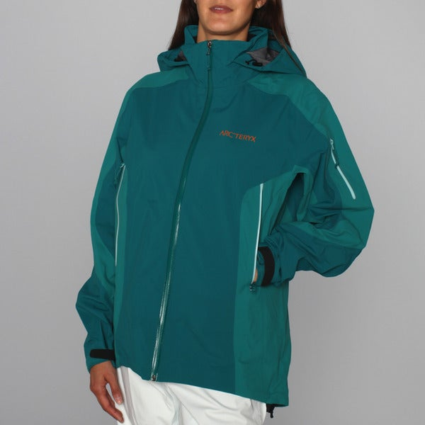 Arc'teryx Women's 'Stingray' Peacock Soft Shell Ski Jacket (L)