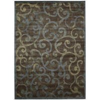 Nourison Expressions Multicolor Scroll Rug