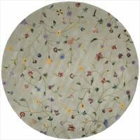 Nourison Hand-tufted Julian Light Green Wool Rug (6' Round)