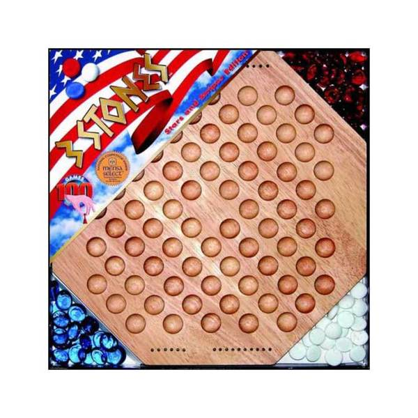 Enginuity Stars and Stripes Edition 3 Stones Board Game