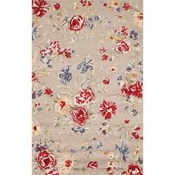 Handmade Sophie Ivory Wool Rug (5x8)