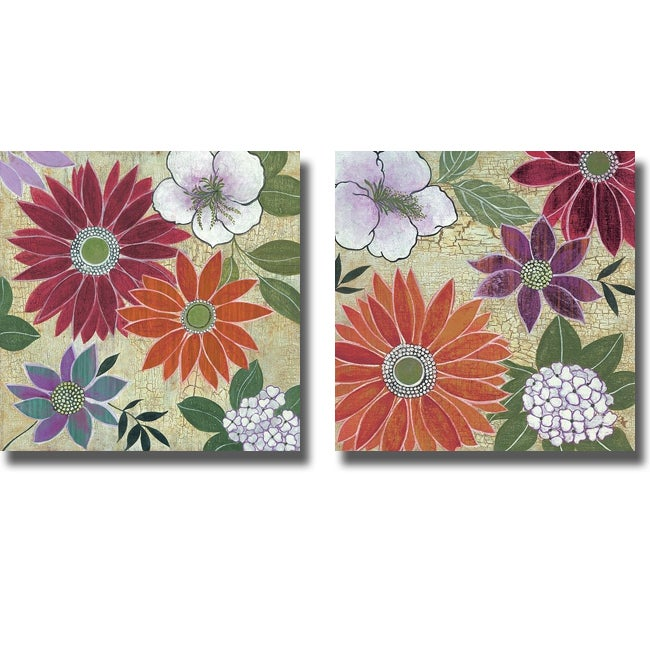 Lee Speedwell 'Vintage Floral I and II' 2-piece Canvas Art Set