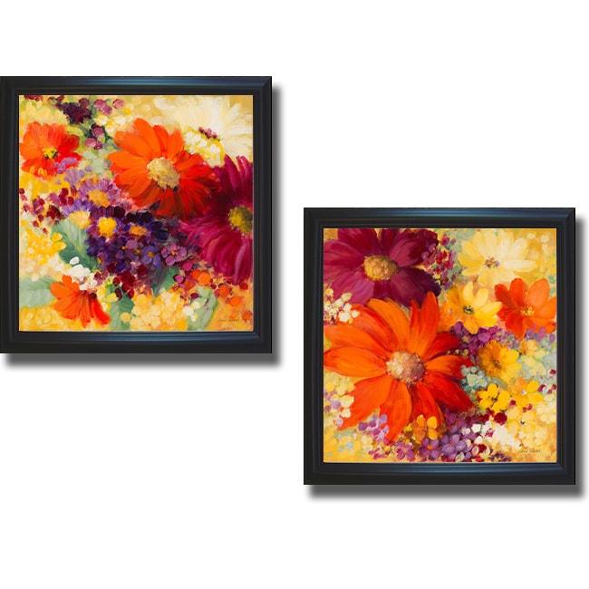 Lanie Loreth 'Love and Light I and II' Framed 2-piece Canvas Art Set