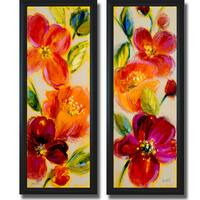 Lanie Loreth 'Spring is Calling I and II' Framed 2-piece Canvas Art Set