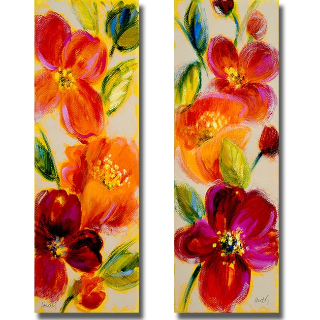 Lanie Loreth 'Spring is Calling I and II' 2-piece Canvas Art Set