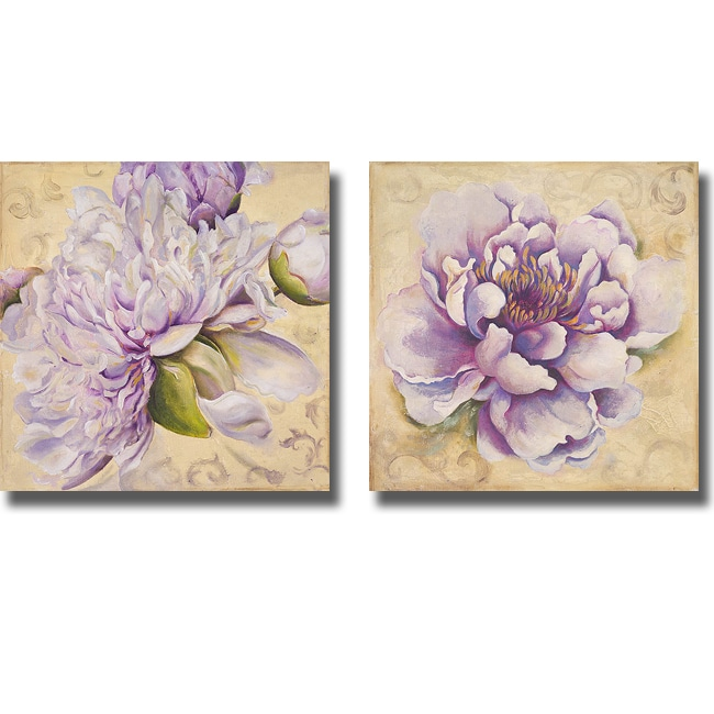 Patricia Pinto 'In Bloom I and II' 2-piece Canvas Art Set