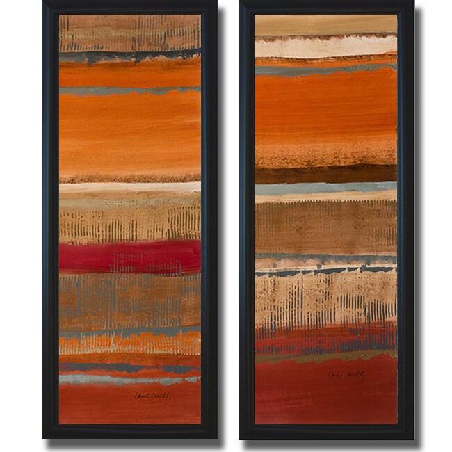 Lanie Loreth 'Journey I and II' Framed 2-piece Canvas Art Set