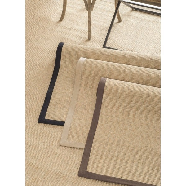 nuLOOM Handmade Eco Natural Fiber Cotton Border Sisal Rug (6' x 9')