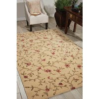 Nourison Hand-tufted Julian Floral Light Gold Rug - 3'6 x 5'6