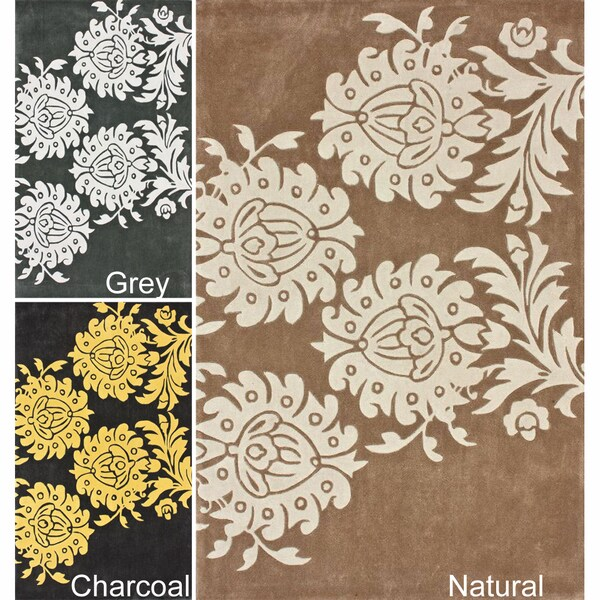 nuLOOM Handmade Blossom Floral Rug (7'6 x 9'6)