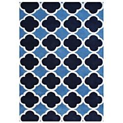 Alliyah Handmade Azure Blue New Zealand Blend Wool Rug (8'x10')