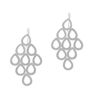 Beverly Madison Sterling Silver Teardrop Chandelier Earrings