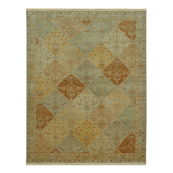 Hand-knotted Oriental Light Gold Wool Rug (2' x 3')