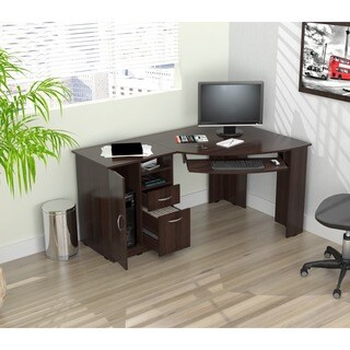 Inval Workstation/ Computer Desk (Option: Espresso)