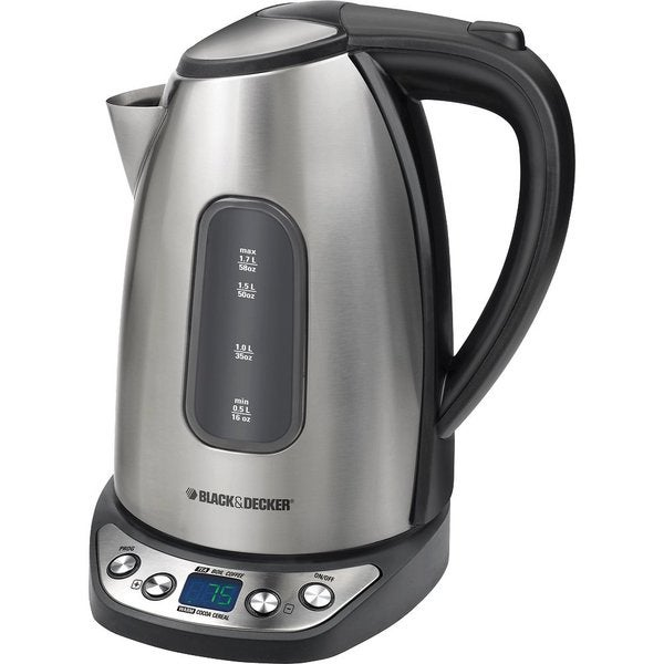 Black & Decker KE1020S Smartboil Plus 1.7 Liter Cordless Programmable Kettle (Refurbished)