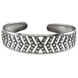 LucyNatalie Sterling Silver Chevron Flexible Cuff Bracelet