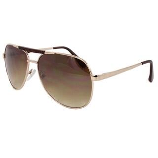 Unisex Gold-Metal Aviator Sunglasses