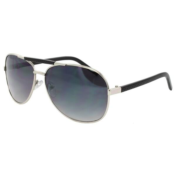 Unisex Silver Aviator Sunglasses