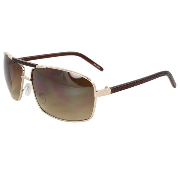 Unisex Gold Rectangle Sunglasses