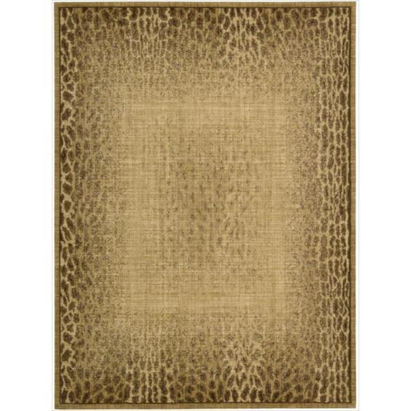 Nourison Liz Claiborne Radiant Impression Transitional Giraffe Print Beige Rug (9'6 x 13'6)