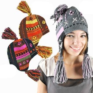 Handmade Tassle Knit Hat (Nepal)