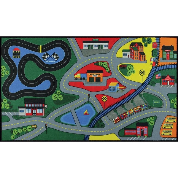 Somette City Design Kids' Mat (27 inches x 48 inches)