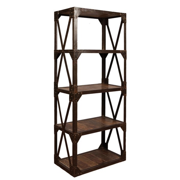 Kosas Home Starx Wood Plank Bookshelf
