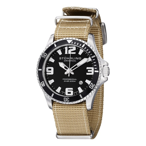 Stuhrling Original Men's Regatta Champion II Canvas Strap Watch