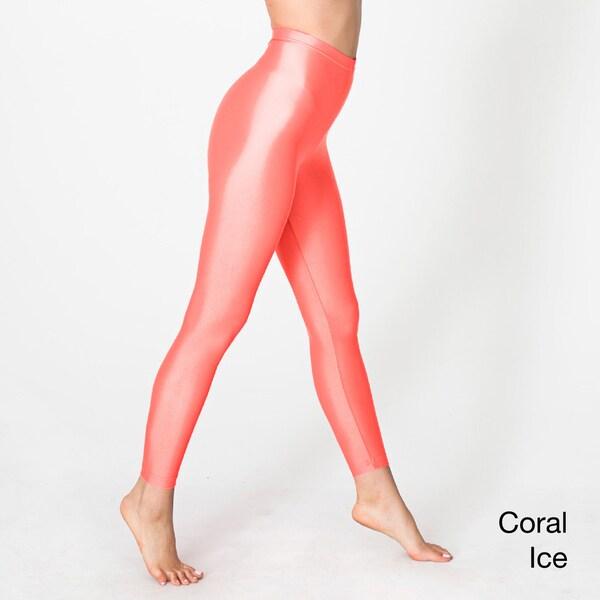 American Apparel Women's Shiny Nylon Tricot Leggings