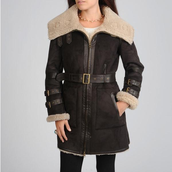 Hawke & Co Women's Belted Faux Sherpa