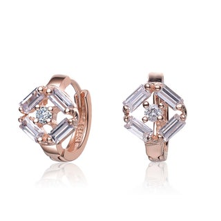 Collette Z Cubic Zirconia and Sterling Silver Small endless Earrings