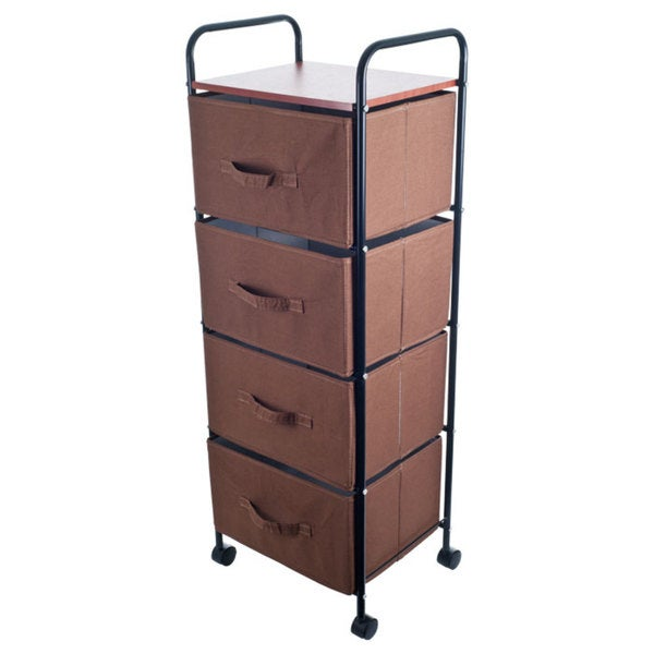 Trademark Home Four Tier Drawer Trolly