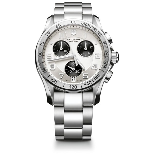 Swiss Army Men's Chrono Classic Silver Dial Watch