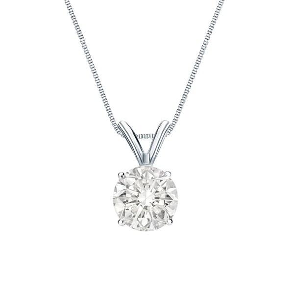 Auriya 14k Gold Clarity-Enhanced Diamond Solitaire Necklace
