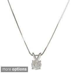 Auriya 18k Gold 1/2 to 1 1/4ct TDW Certified Clarity-enhanced Diamond Necklace