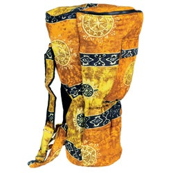 Handmade Yellow Celestial Djembe Drum Backpack Bag (Indonesia)