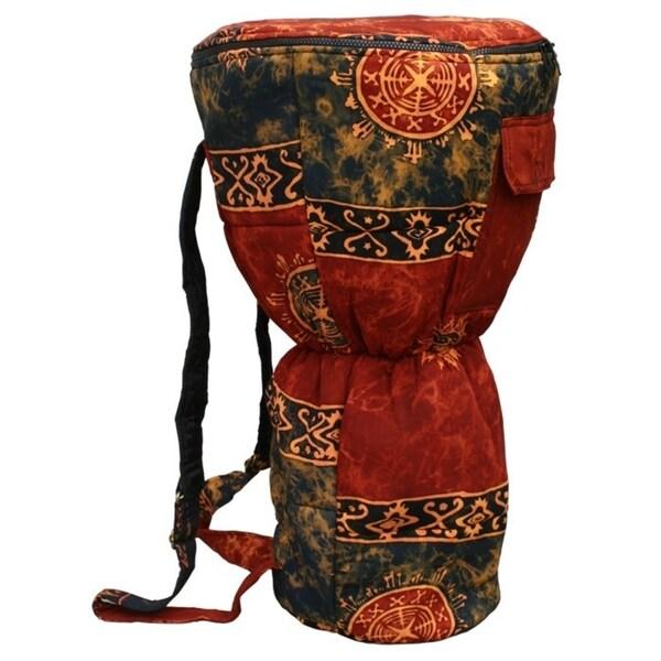 Handmade Auburn Cloth Djembe Drum Backpack Bag (Indonesia)
